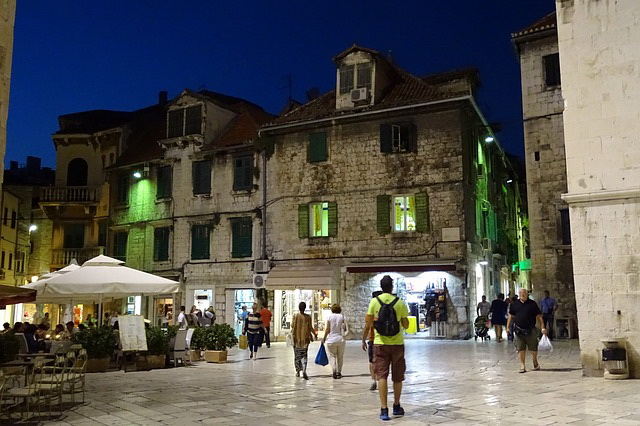 Diocletian's palace by night